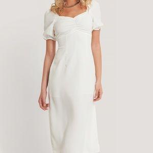 Reformation Puff Sleeve Cottage Midi Dress